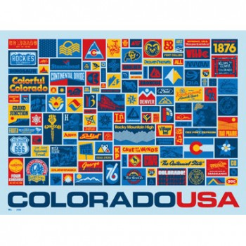 Colorado Collected Poster - by Aaron Draplin